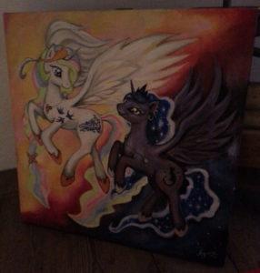 Painting of ponies